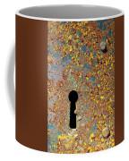 Rusty Key-hole Coffee Mug by Carlos Caetano