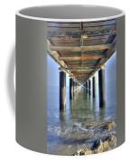 Rusty Pier  On The Ocean  From Below Coffee Mug
