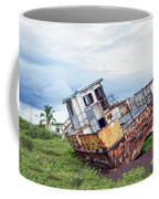 Rusty Retired Fishing Boat Coffee Mug