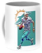 Ryan Tannehill Miami Dolphins Oil Art Coffee Mug