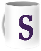 S In Purple Typewriter Style Coffee Mug