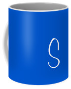 S In White Simple Script Coffee Mug