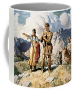 Sacagawea With Lewis And Clark During Their Expedition Of 1804-06 Coffee Mug by Newell Convers Wyeth