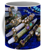 Sacred Gemstones Energy Amulets Crystal Balls Magic Wands Coffee Mug