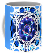 Sacred Geometry Blue Shapes Background Coffee Mug