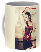 Sad French Pin-up Woman. Loss In The City Of Love Coffee Mug