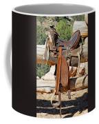 Saddle On Ranch Fence Coffee Mug