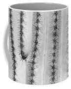 Saguaro Cactus Close-up  Bw Coffee Mug