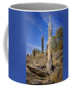 Saguaro Cactus Skeleton Coffee Mug