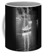 Sail Boat Yaht Parked At Harbor Bay Coffee Mug