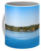Sailboat And Cottages On Rocky Coffee Mug