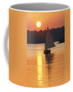 Sailboat And Sunset, South River Coffee Mug