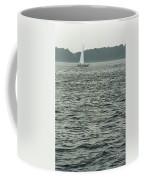 Sailboat And Waves, Piscataqua River, Maine 2004 Coffee Mug