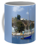 Sailboat At Anchor In Harbor Coffee Mug