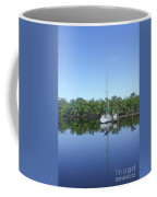 Sailboat At Dock Florida Coffee Mug