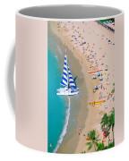 Sailboat At Waikiki Coffee Mug
