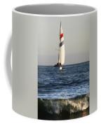 Sailboat Coming Ashore 1 Coffee Mug
