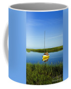 Sailboat In Cape Cod Bay Coffee Mug