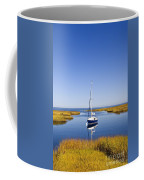 Sailboat In Salt Marsh Coffee Mug