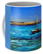 Sailboat Off Karpathos Greece Greek Islands Sailing Coffee Mug