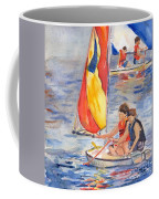 Sailboat Painting In Watercolor Coffee Mug