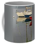 Sailboats And Reflections Coffee Mug