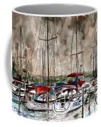 Sailboats At Night Coffee Mug