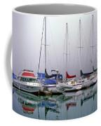 Sailboats In The Fog Coffee Mug