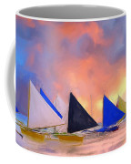 Sailboats On Boracay Island Coffee Mug