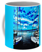 Sailboats Watching Weather Coffee Mug