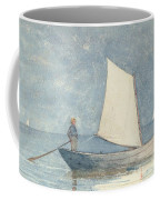 Sailing A Dory Coffee Mug by Winslow Homer