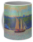 Sailing Aboard Sarah Mead At Spruce Point Boothbay Harbor Maine Coffee Mug