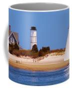 Sailing Around Sandy Neck Lighthouse Coffee Mug