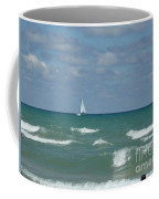 Sailing Away On The Lake Coffee Mug