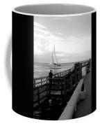 Sailing By The Old Pier Coffee Mug