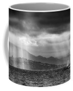 Sailing In Black And White Coffee Mug