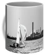 Sailing In Black And White Coffee Mug