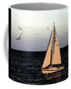 Sailing Off Of Diamond Head Coffee Mug