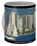 Sailing Off Waikiki Coffee Mug