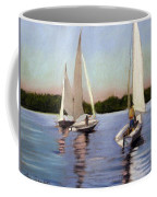 Sailing On The Charles Coffee Mug by Lenore Gaudet