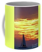 Sailing Past The Sunset Coffee Mug
