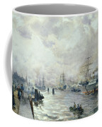 Sailing Ships In The Port Of Hamburg Coffee Mug