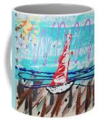 Sailing The Coast Abstract Coffee Mug
