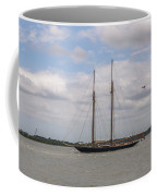 Sailing Under British Flag Coffee Mug