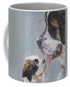 Saint Bernard Dad And Pup Coffee Mug