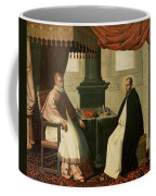 Saint Bruno And Pope Urban II Coffee Mug by Francisco de Zurbaran