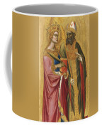 Saint Catherine And A Bishop Saint Possibly Saint Regulus Coffee Mug