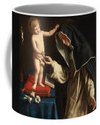 Saint Catherine Of Siena Receiving The Crown Of Thorns From The Christ Child Coffee Mug