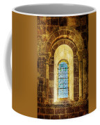 Saint Isidore - Romanesque Window With Stained Glass - Vintage Version Coffee Mug