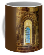 Saint Isidore - Romanesque Window With Stained Glass Coffee Mug